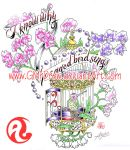 SweetPea HummingBirdCage Tattoo design by GMrDrew