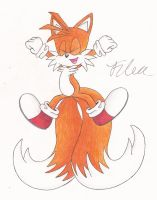 My drawing of Tails by SonicBornAgain