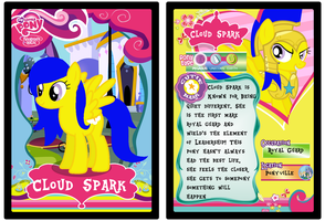Cloud Spark Trading Card by luluflaire