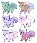 tiny kitten adoptables (OPEN) by ssnowdrop