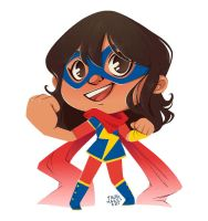 Ms. Marvel - tumblr giveaway bonus prize by FrogMakesArt