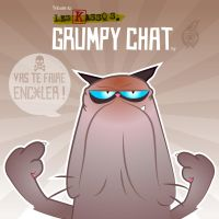 Grumpy Chat - Les Kassos by GELLYFISH