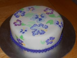 Hibiscus Cake by emily0410