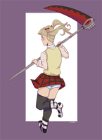 Maka Albarn ft striped panties by CasuallyObserving