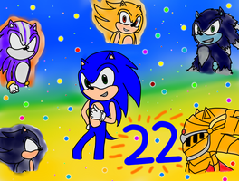 Happy 22nd Sonic!! by sonicandshadowcaught