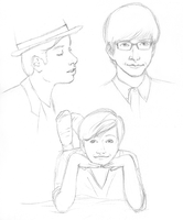 Glee sketchdump 2 by Keitaboy