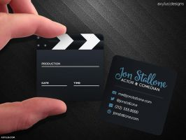 Square Movie and Actor Business Card by axylus