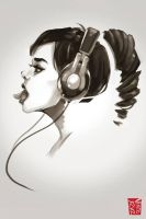 Headphone Girl by vinciruz