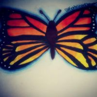 SunSet Monarch Butterfly 2 by AngelAmethyst