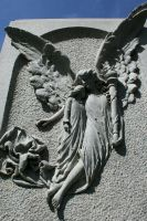 Mount Olivet Cemetery Angel 159 by Falln-Stock