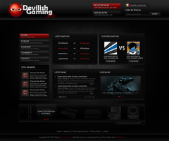 DevilishGaming Layout by MsT4GFX