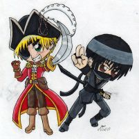 APH: Pirate vs. Ninja by Rose-McSugar