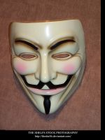V FOR VENDETTA MASK STOCK by Theshelfs