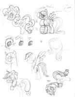 MLP FiM G4 parts sketch by Nimaru