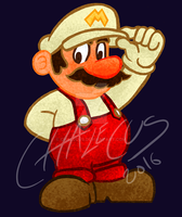 Fire Mario by Chalecus