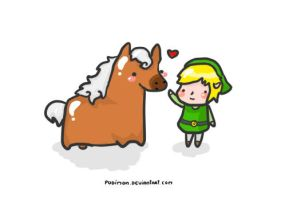 Epona and Link by pudimon