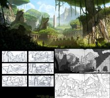 Egyptian Ruins + Jungle by Conceptibot