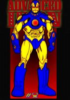 Blue and Gold Iron Man - Art by Bob Layton by Cousture