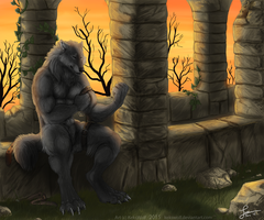 A Place to Rest - Commission by KeksWolf