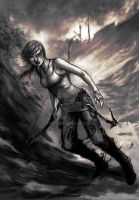 Tomb Raider sketch thingy by Marcianek