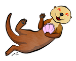 Sea Otter by MischievousPooka