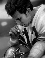 Roger Staubach Speed Paint by DJCoulz