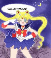 Sailor Moon colored manga scan by LovelessAndWaiting