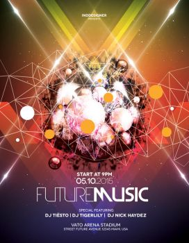 Future Music Flyer by inddesigner