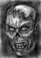 Zombie Head Speed Paint by rawjawbone