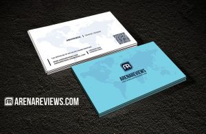 World Map Business Card by ArenaReviews