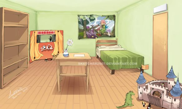 BedRoom Comission by faustsketcher