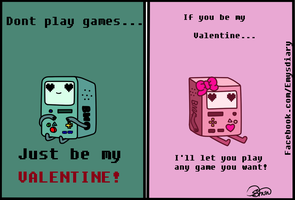valentines card Bmo and Bma by EmilysDiary