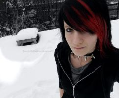 It's cold outside, Emo Girl by JokerIsMYFreak