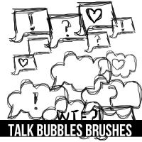 Talk Bubbles Brushes (no son mios) by Swiftie1310