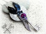 Nevermore - The Raven inspired Key Necklace by ArtByStarlaMoore