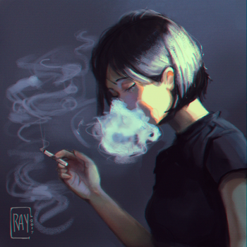 Smoke me ~ by CrayonMoon