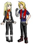 Winry and Ed - FMA by Dear-Dire-Heart
