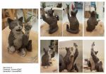 Bicolor Cat - clay sculpture before baking by UniversBDMT