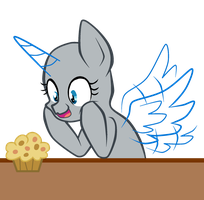 MLP [BASE] - Obsessed with muffins by CindryTuna