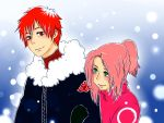 Sasori and Sakura romantic Christmas[request] by affiqahchan