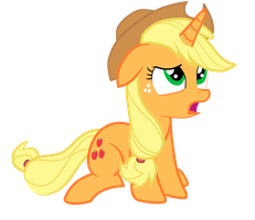 Applejack unicorn by Scootaloo24