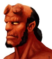 Hellboy bust by mrAlejoX