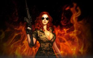 Girl soldier by Alkven