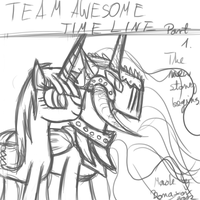 LIVE STREAM Time line part 1 Cover art sketch. by Bonaxor