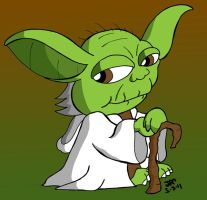 Yoda by JimmyCartoonist
