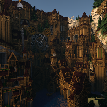 Minecraft Steampunk City 80% completed by Notux