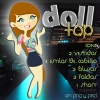 Top doll .PSD by roosabieeber