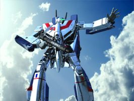 VF-1J 3D by asgard-knight