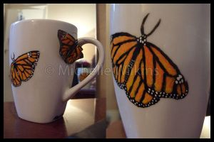 Monarch Mug by DragonsDust