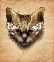 Adoptable - ButterflyKitty - The Serval Kitten END by LuxDani